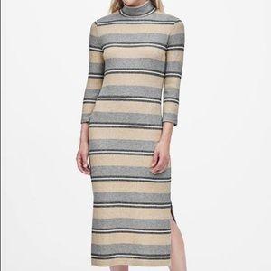 Banana republic Stripe Turtleneck sweater Dress
